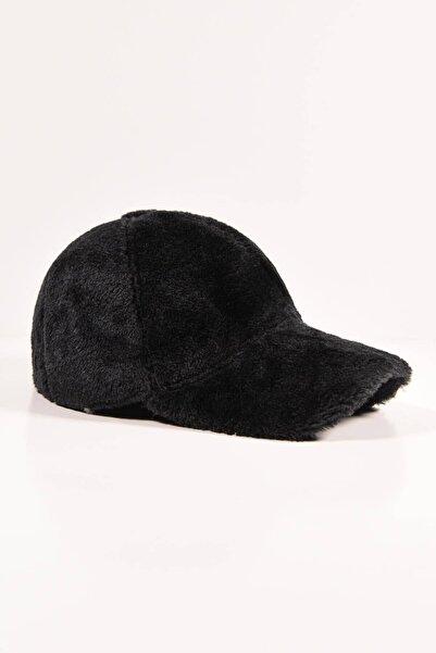 Y-London 13590 Siyah Peluş Kep