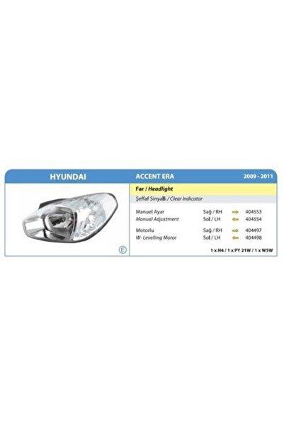 Hyundai Accent Era 2009-2011 Ön Far Lambası Sağ Beyaz Sinyal Ayfar