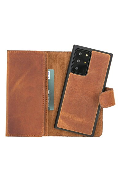 PLM Santa Mw Deri Telefon Kılıfı Samsung Note 20 Ultra G19 Taba