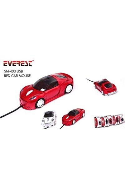Everest Araba Sm-403 Dizayynlı Kırmızı Özel Tasarım Usb Kablolu Optik Mouse