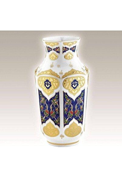 Kütahya Porselen 25 Cm El Dekoru Antik 25 Cm Vazo Dekor No: 3880
