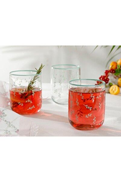 English Home Rosalinda 4 Cam 3'lü Meşrubat Bardağı 270 ml Su Yeşili