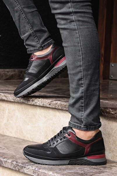 FAST STEP Hakiki Deri Siyah Erkek Sneaker Ayakkabı 856ma1633