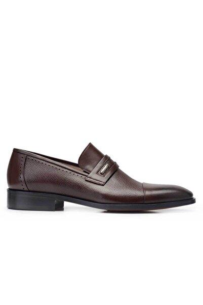 Nevzat Onay Hakiki Deri Kahverengi Klasik Loafer Kösele Erkek Ayakkabı -11830-