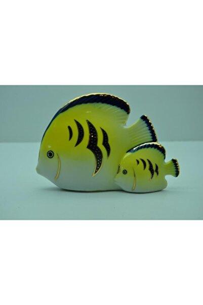 Kütahya Porselen Anne-yavru Balık Biblo