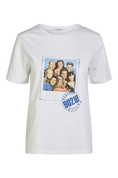 PIECES Beverly Hills Baskılı T-shirt 17102579 Pctv