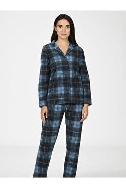 Ekose Polar Kadın Pijama Takımı 67020
