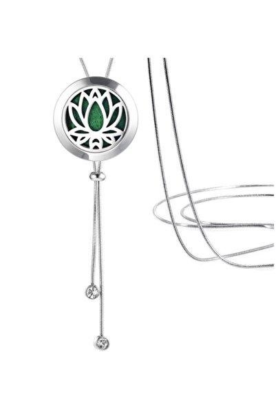 Ruhanda Lotus Sembollü Aromaterapi Uzun Kolye