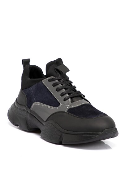 Tergan Siyah Deri Erkek Ayakkabı 54997j0u