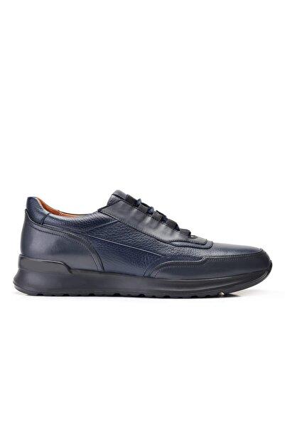 Nevzat Onay Hakiki Deri Lacivert Sneaker Erkek Ayakkabı -11885-