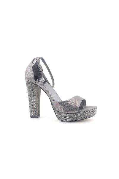 PUNTO 655101 Kadın Topuklu Ayakkabı-platin