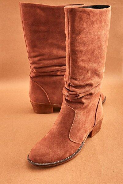 Bambi Taba Süet Kadın Çizme K0709010072
