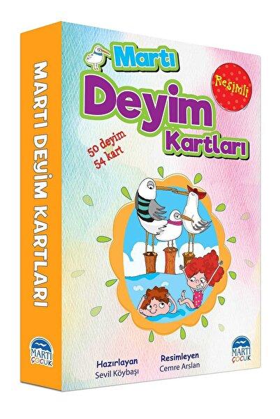 Martı Yayınları Resimli Martı Deyim Kartları-50 Deyim 54 Kart