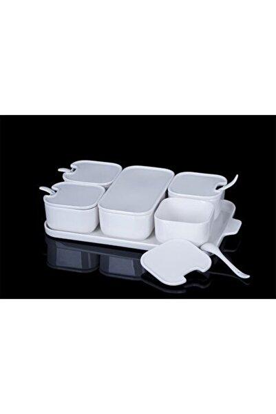 ACAR Sct10875 Pure Porselen Kaşıklı Kahvaltılık 6lı