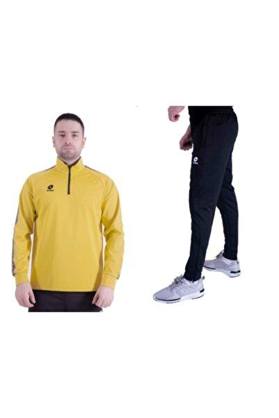 Lotto Eşofman Takımı Hardal Sarı, R8964 Horz , Yarım Fermuar