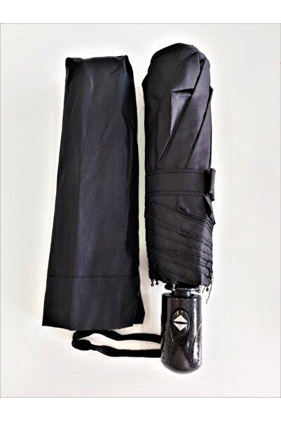 Oranj Life Şemsiye Siyah Tam Otomatik Rüzgarda Kırılmayan