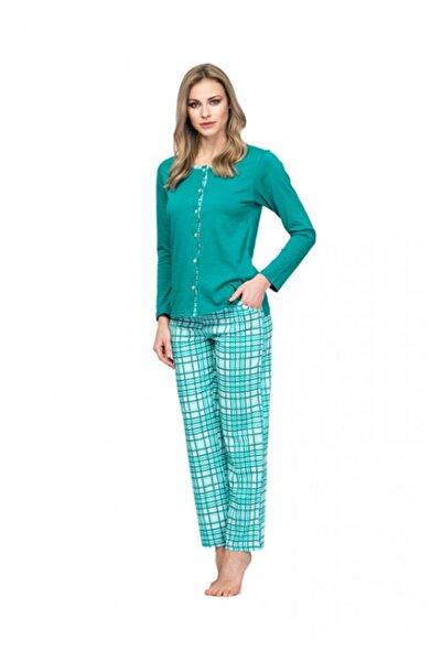 Çift Kaplan 7630 Uzun Kol Önden Düğmeli Pijama Takımı