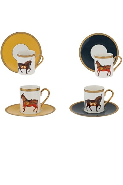 Lucky Art Marion 6lı Kahve Fincan Seti Bone Serisi