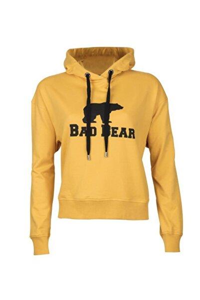 Bad Bear Kadın Crop Sweatshirt 20.04.12.007-hardal