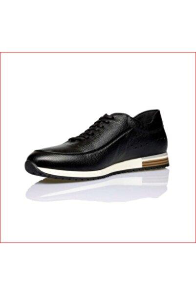 Pierre Cardin Erkek Deri Spor Ayakkabı 11902252 Casual Siyah