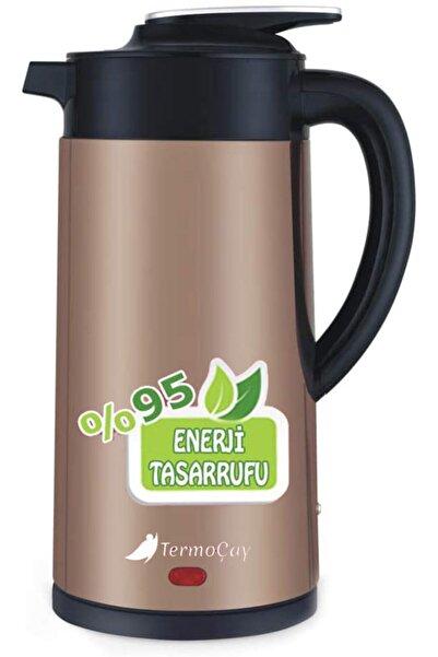 Shibo Termoçay Termos Özellikli Su Isıtıcı Kettle Çay Makinesi Altınsarı