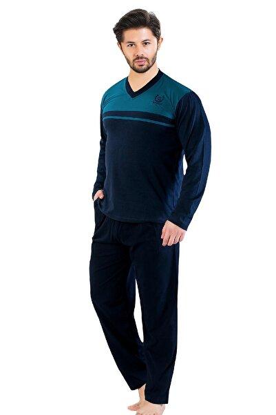 Oksit Gls 2100 Uzun Kol V Yaka Erkek Pijama Takımı