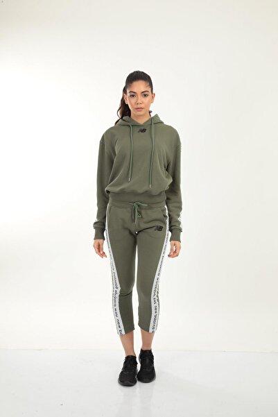 New Balance Kadın Haki Kapüşonlu Sweatshirt Wpj005-tpg