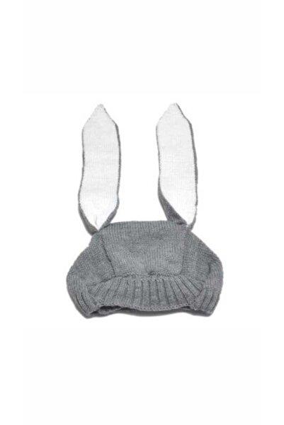 Little Honey Bunnies Tavşan Kulaklı Gri Şapka