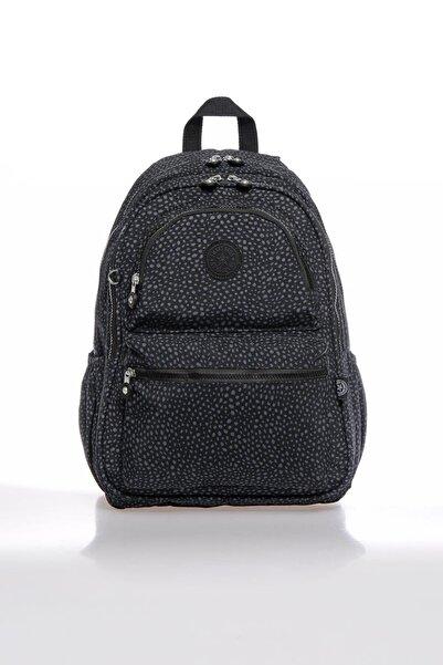 SMART BAGS Smbky1050-0091 Puanlı Siyah Kadın Sırt Çantası