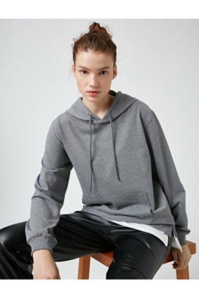 Koton Kapüşonlu Cepli Sweatshirt