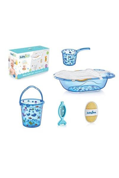 Babyjem Bebek Banyo Küvet Seti 6 Parça 540 Mavi