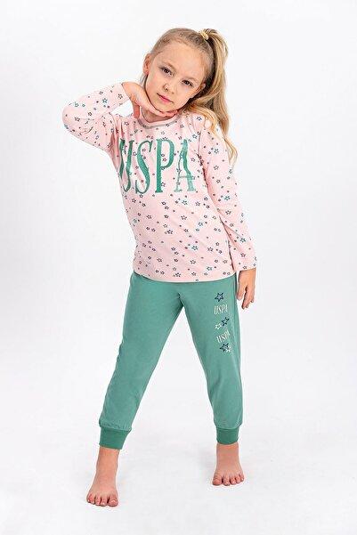 U.S. Polo Assn. Lisanslı Kız Çocuk Pijama Takımı
