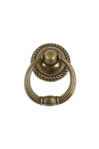 bablife 5 Adet Rustik Halka Sarkaç Antik Sarı 35mm Çapında Çekmece Dolap Mobilya Kulpları