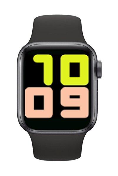 hesaplısıburda Türkçe Menü 2020 Tam Kapasite Tam Dokunmatik T500 Akıllı Saat-siyah