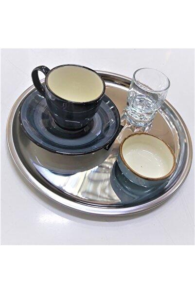 Abant Çelik Kahve Sunum Tabağı