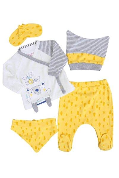 İmaj Ayılı Sarı Erkek Bebek 5 Li Hastane Çıkışı