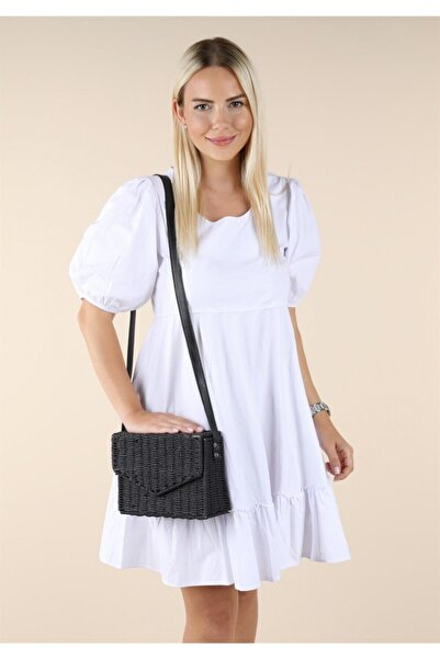 Oblavion Kadın Siyah Hasır Çanta 1012