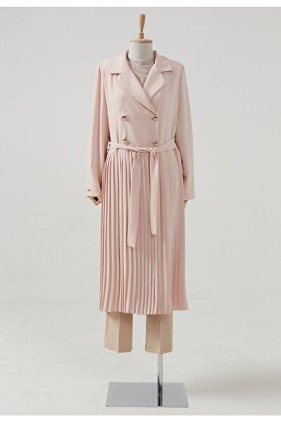Setrms Kadın Düğme Ve Kuşak Detaylı Pileli Ceket