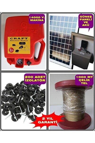 Craft 10 Dönüm Için Elektrikli Çit Sistemi Full Takım Çelik Telli