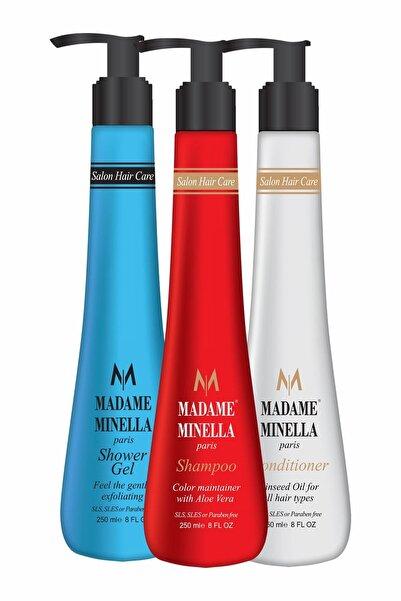 MADAME MİNELLA Saç Uzatan Renk Koruyusu Şampuan Seti