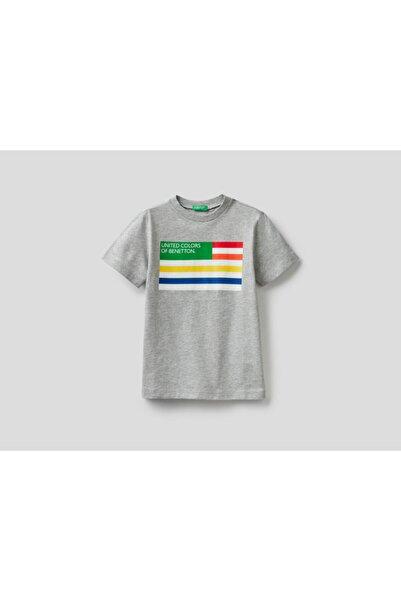 United Colors of Benetton Erkek Çocuk Yazılı Tshirt