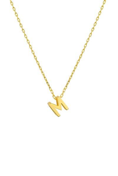 Gimora Harf Kolye Mini M Harfi Altın Kaplama Gümüş Kolye