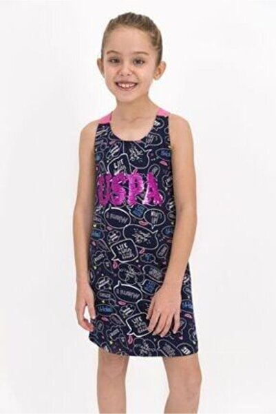 U.S. Polo Assn. U.s. Polo Assn Lisanslı Lacivert Kız Çocuk Elbise