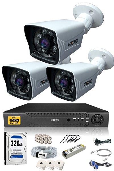 IDS 3 Kameralı 5mp Lensli 1080p Fullhd Kamera Seti - Gece Görüşlü - Su Geçirmez - Cepten Izle