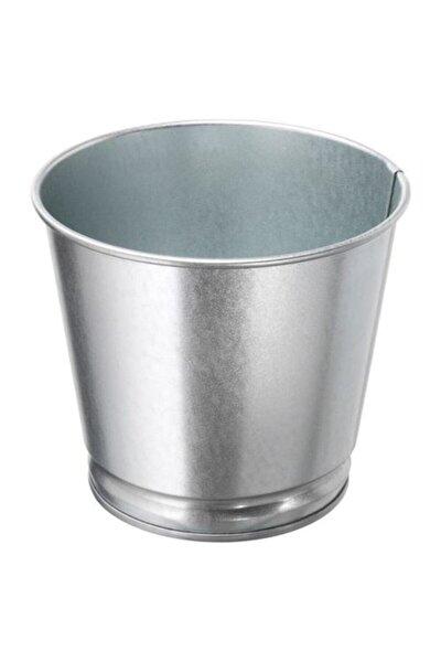 IKEA Galvanizli Gümüş Renk Saksı Bitki Çiçek Saksısı 9 Cm Meridyendukkan Çelik