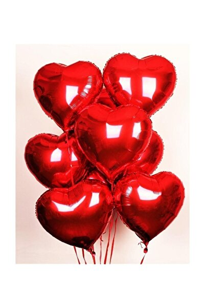 Parti dolabı Folyo Kalpli Uçan Kalp Balon 5 Adet Kırmızı Romantik Evlilik Teklifi