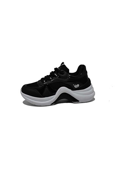 Twingo Kadın Siyah Yüksek Tabanlı Sneaker