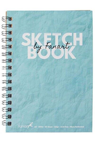Fanart Academy Sketchbook A5 Spiralli Eskiz Defteri Turkuaz Kapak