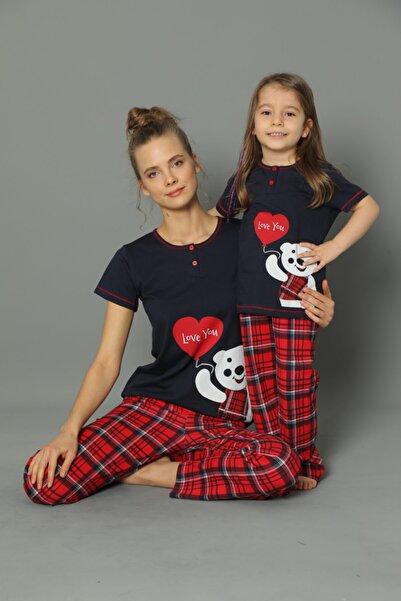 modalizy Anne Kız Kombinleri Ekoseli Pijama Takımı (TEK ÜRÜN FİYATIDIR KOMBİN İÇİN TEK TEK SEPETE EKLEYİNİZ)