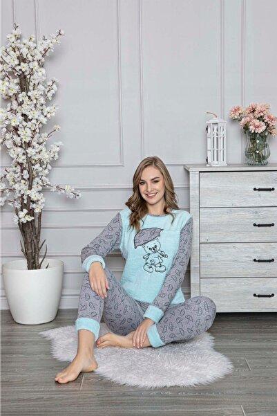 RİNDA Uzun Kollu Polar Kadın Pijama Takımı